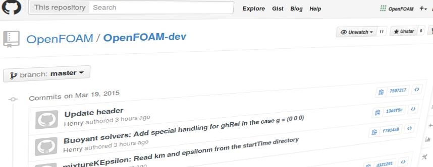 OpenFOAM Development Git Hub