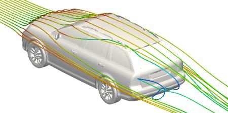 CFD Training   Estate Car Streamlines