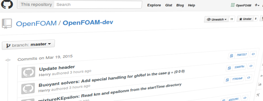 OpenFOAM Development Git Hub