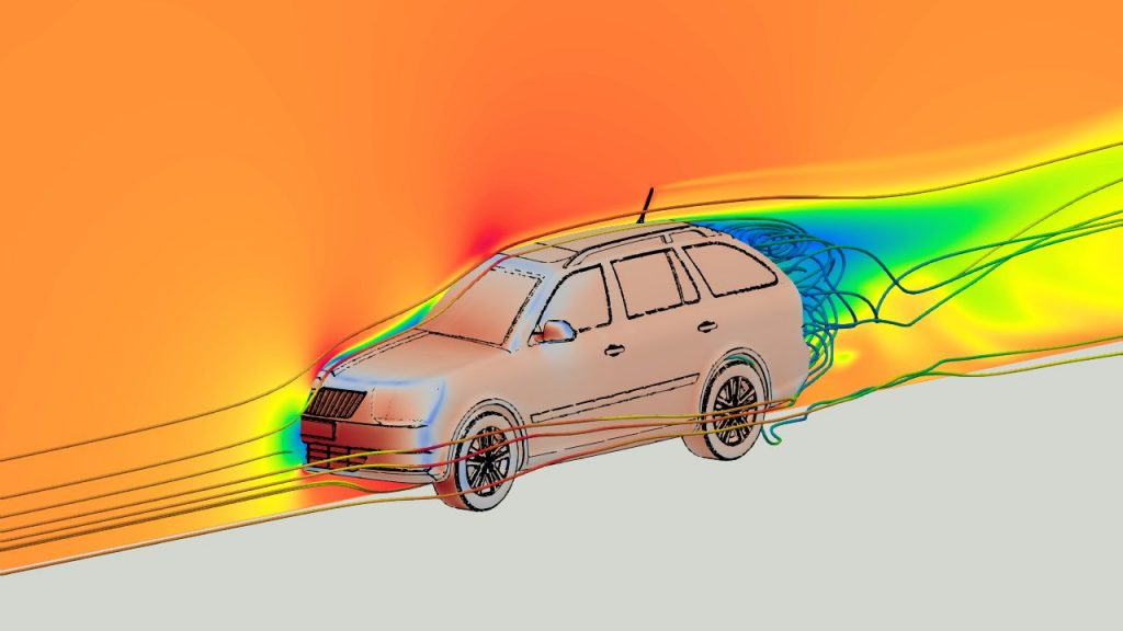 External Aerodynamics of a Vehicle with OpenFOAM