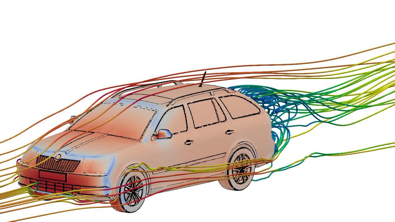 External Aerodynamics of a Vehicle in OpenFOAM