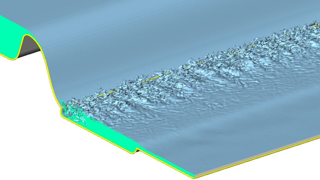OpenFOAM HPC of Flow over a Weir with Hydraulic Jump