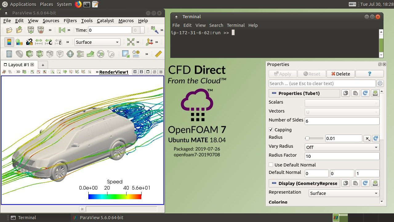 CFD Direct From the Cloud: OpenFOAM AWS and Azure
